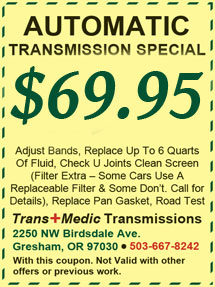 Portland Transmission Repair Coupon